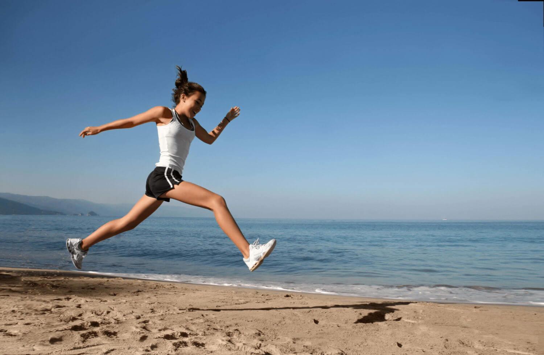 Laufen am Strand