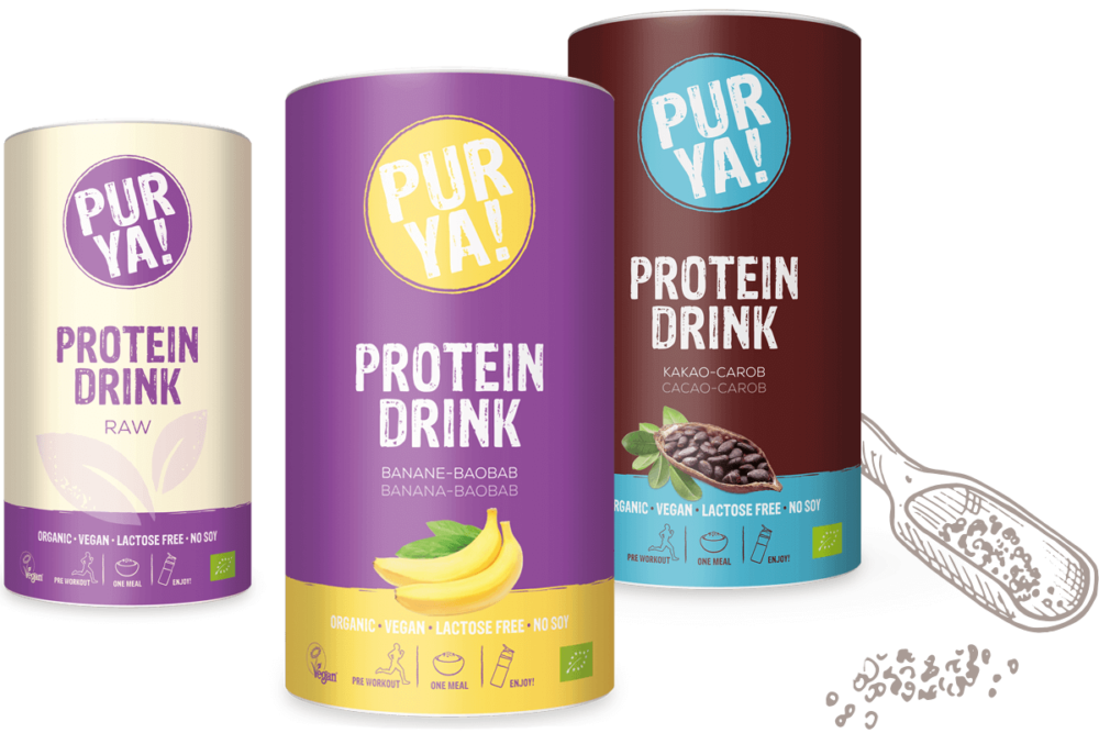 Teaserimage PURYA Vegan Protein Drinks
