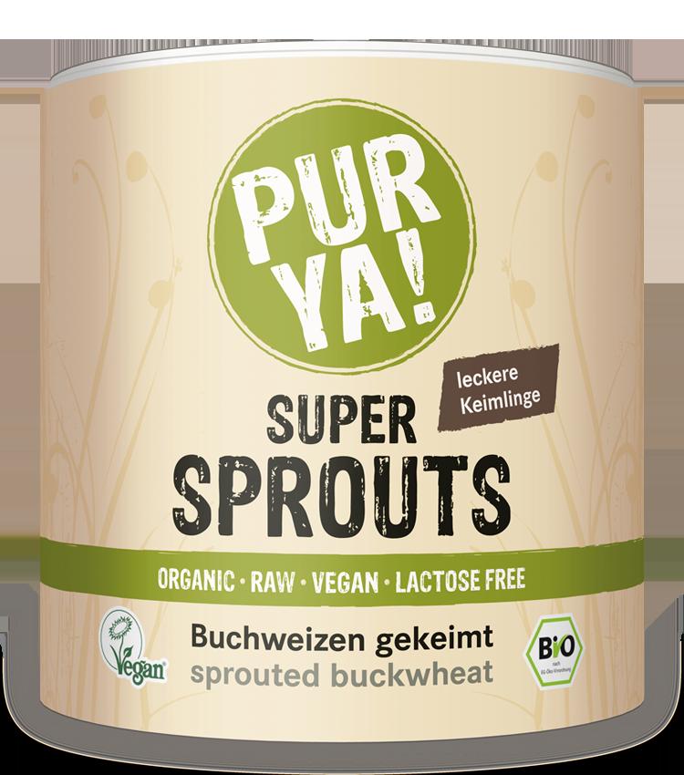 PURYA Super Sprouts Buchweizen gekeimt