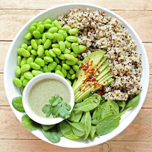 Teaserimage Edamame-Quinoa-Bowl